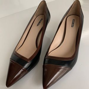 GIORGIO ARMANI shoes leather upper duo color EUC!
